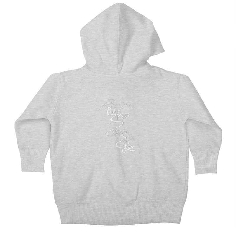 End of the Road Journey Adventure Shirt White Kids Baby Zip-Up Hoody by Flourish & Flow's Artist Shop