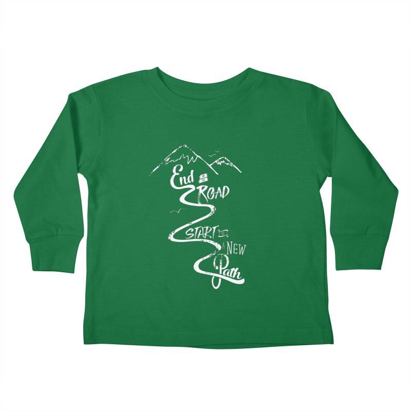 End of the Road Journey Adventure Shirt White Kids Toddler Longsleeve T-Shirt by Flourish & Flow's Artist Shop