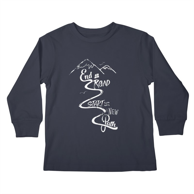 End of the Road Journey Adventure Shirt White   by Flourish & Flow's Artist Shop