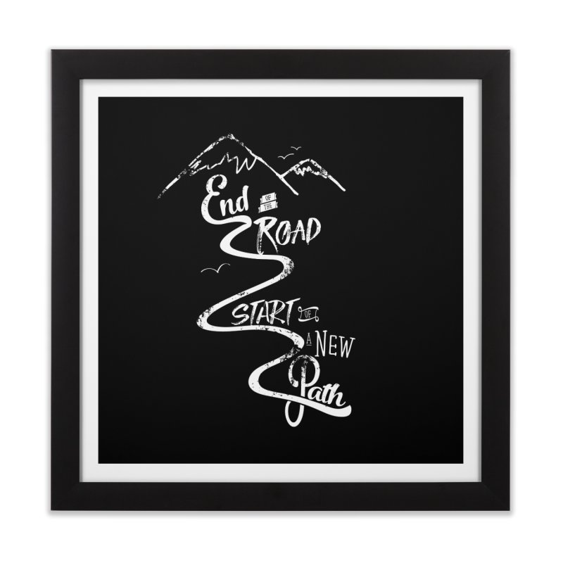 End of the Road Journey Adventure Shirt White Home Framed Fine Art Print by Flourish & Flow's Artist Shop