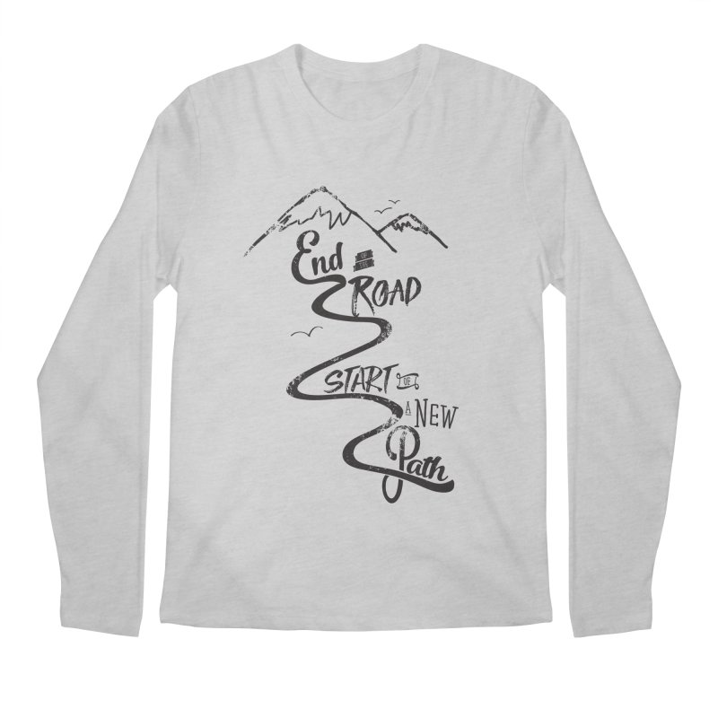 End of the Road Journey Adventure Shirt Black Men's Longsleeve T-Shirt by Flourish & Flow's Artist Shop