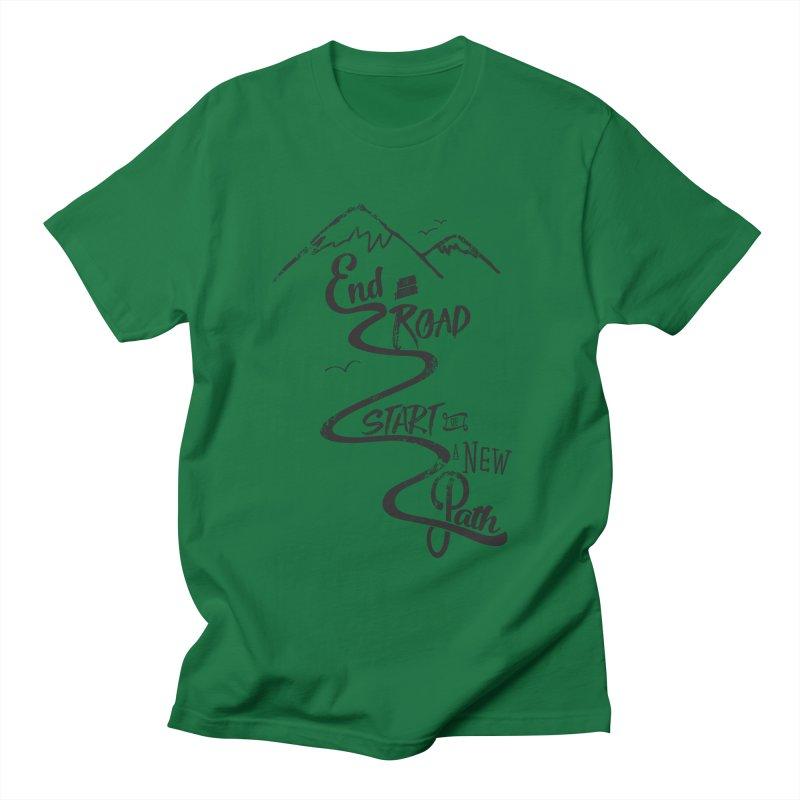 End of the Road Journey Adventure Shirt Black Women's Unisex T-Shirt by Flourish & Flow's Artist Shop