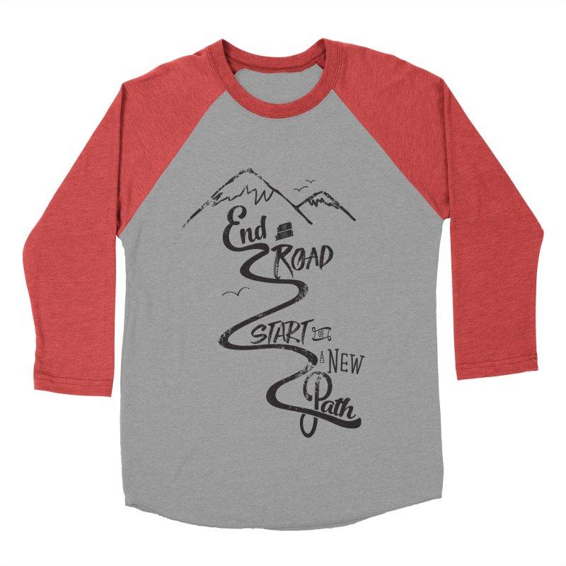 End of the Road Journey Adventure Shirt Black Women's Baseball Triblend T-Shirt by Flourish & Flow's Artist Shop