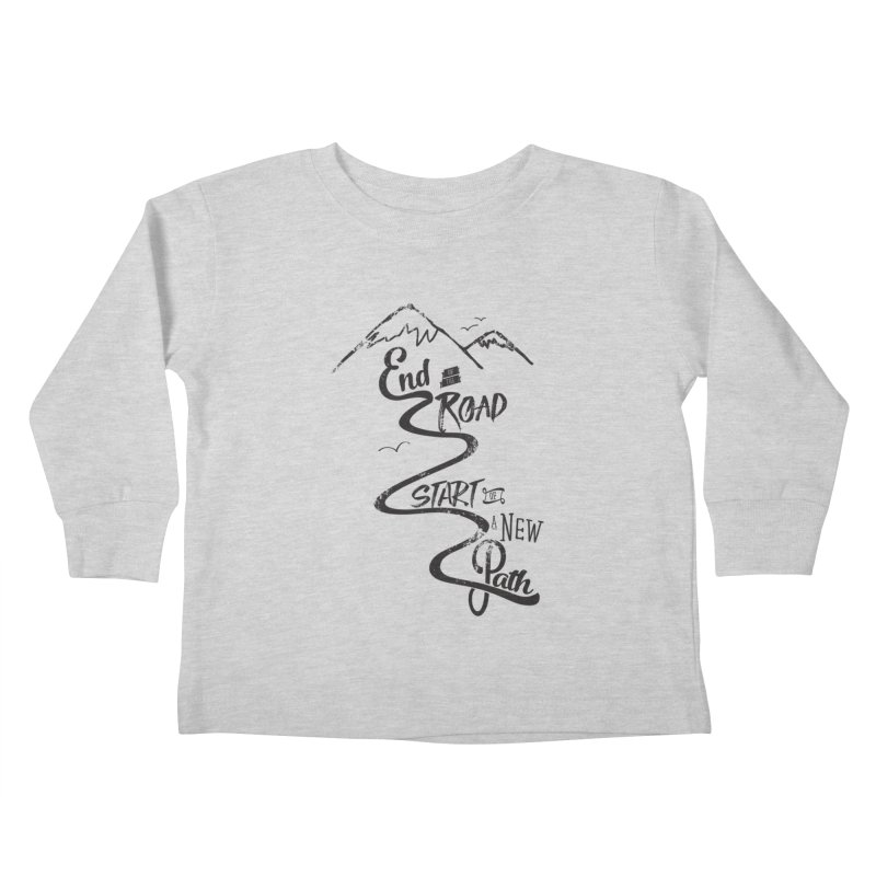 End of the Road Journey Adventure Shirt Black Kids Toddler Longsleeve T-Shirt by Flourish & Flow's Artist Shop