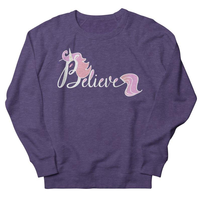Believe Pink Unicorn Illustration Art Shirt T-Shirt Men's Sweatshirt by Flourish & Flow's Artist Shop
