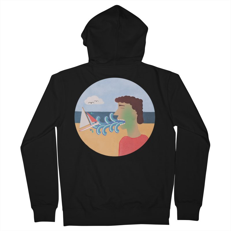 Sea Sick Women's Zip-Up Hoody by Flourish & Flow's Artist Shop