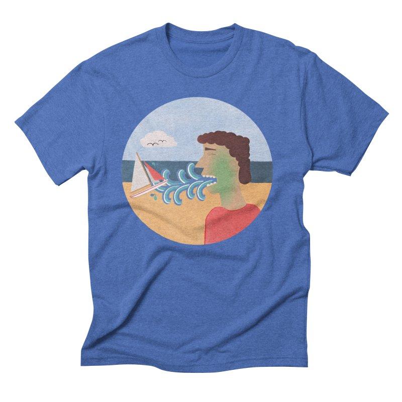 Sea Sick Men's Triblend T-shirt by Flourish & Flow's Artist Shop