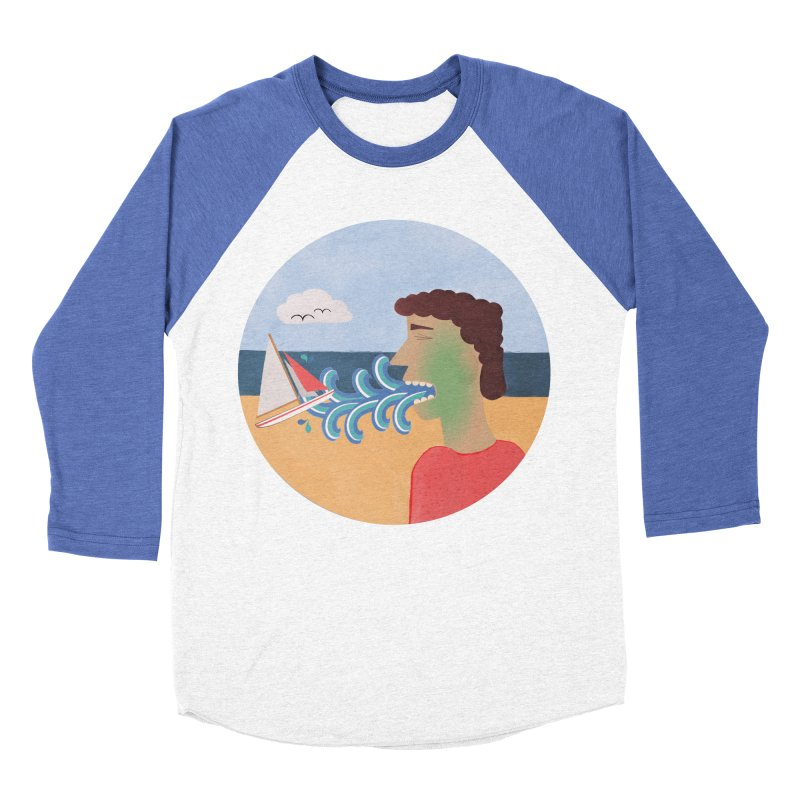 Sea Sick Men's Baseball Triblend T-Shirt by Flourish & Flow's Artist Shop