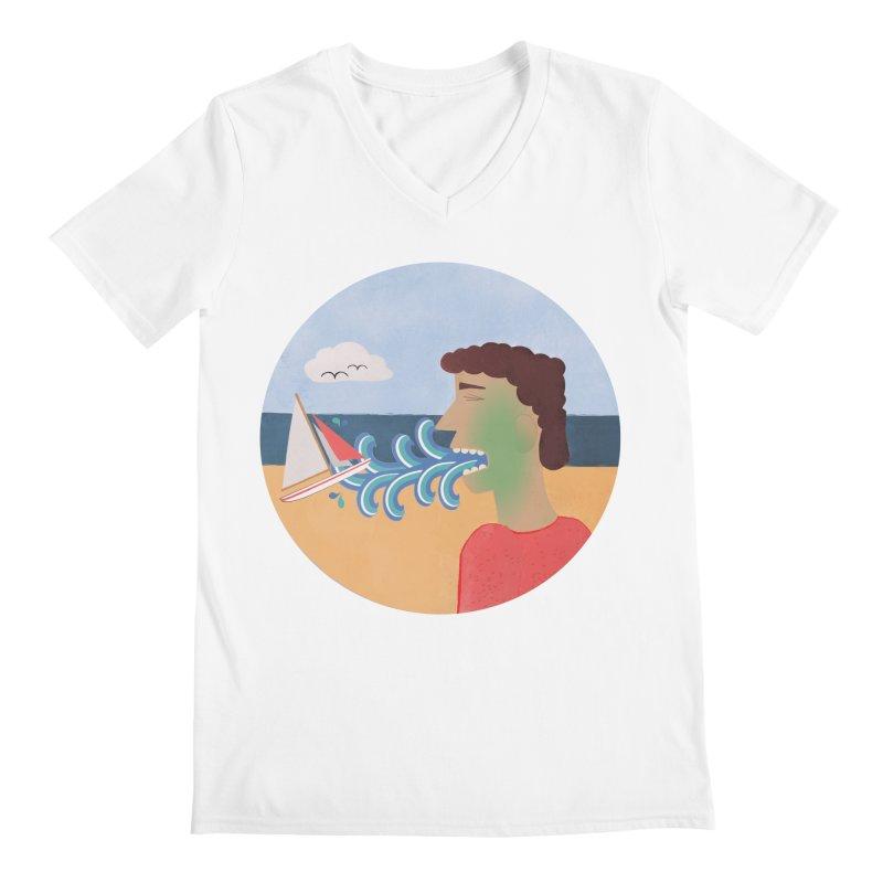 Sea Sick Men's V-Neck by Flourish & Flow's Artist Shop