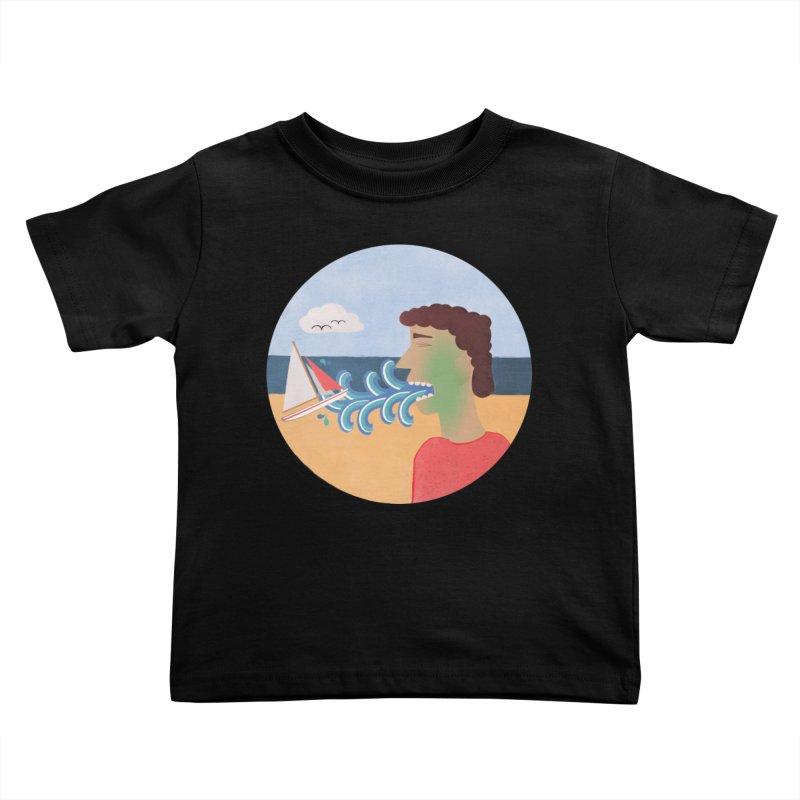 Sea Sick Kids Toddler T-Shirt by Flourish & Flow's Artist Shop