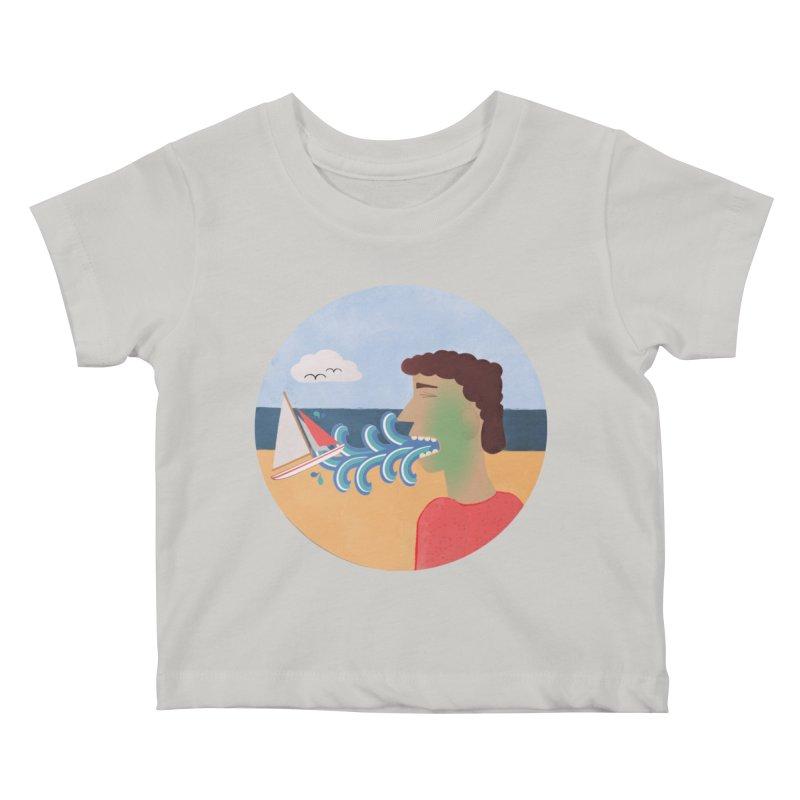 Sea Sick Kids Baby T-Shirt by Flourish & Flow's Artist Shop