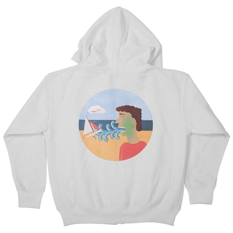 Sea Sick Kids Zip-Up Hoody by Flourish & Flow's Artist Shop