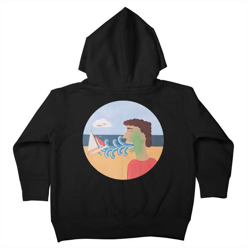 Sea Sick Kids Toddler Zip-Up Hoody by Flourish & Flow's Artist Shop
