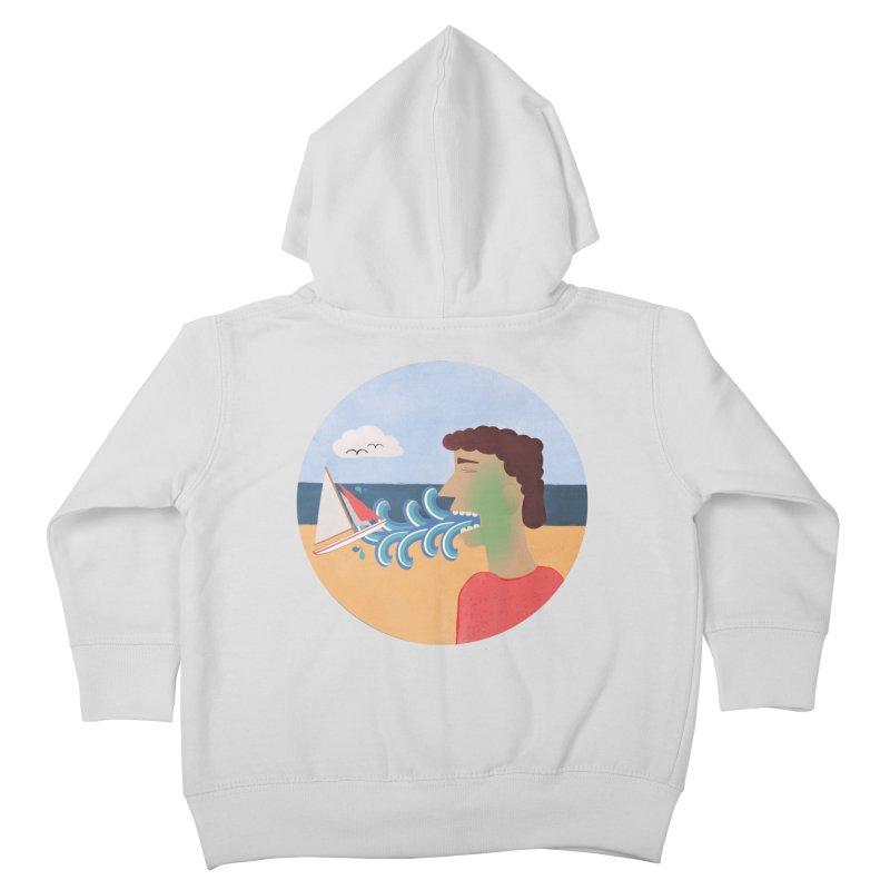 Sea Sick Kids Toddler Zip-Up Hoody by Flourish & Flow's Artist Shop