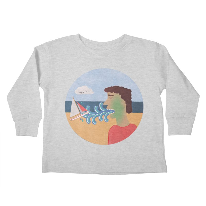 Sea Sick Kids Toddler Longsleeve T-Shirt by Flourish & Flow's Artist Shop