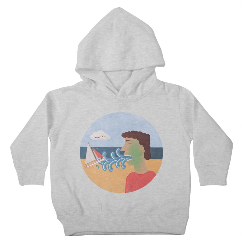 Sea Sick Kids Toddler Pullover Hoody by Flourish & Flow's Artist Shop