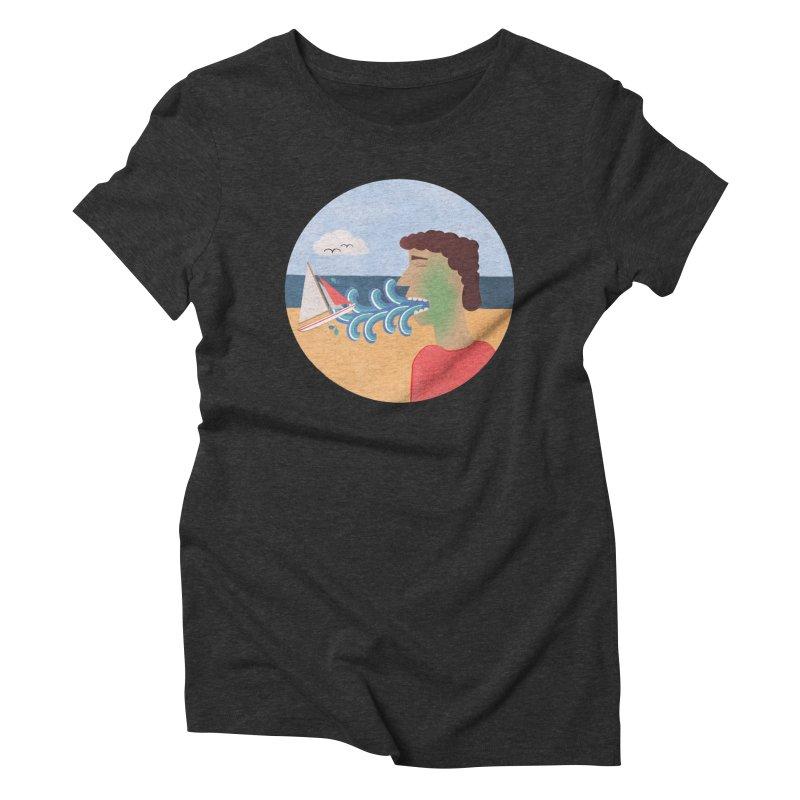 Sea Sick Women's Triblend T-shirt by Flourish & Flow's Artist Shop