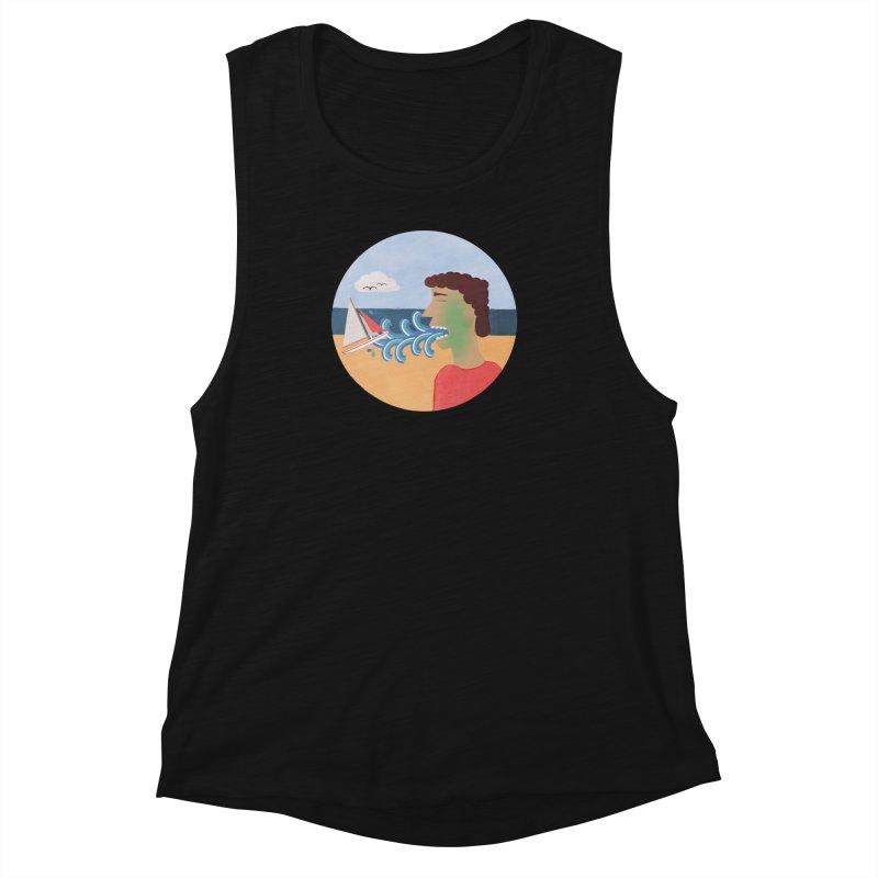 Sea Sick Women's Muscle Tank by Flourish & Flow's Artist Shop