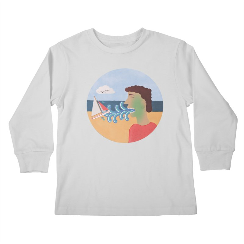 Sea Sick Kids Longsleeve T-Shirt by Flourish & Flow's Artist Shop