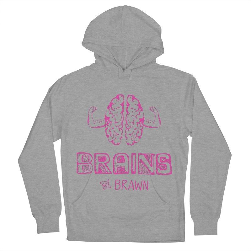 Brains not Brawn Men's Pullover Hoody by Flourish & Flow's Artist Shop