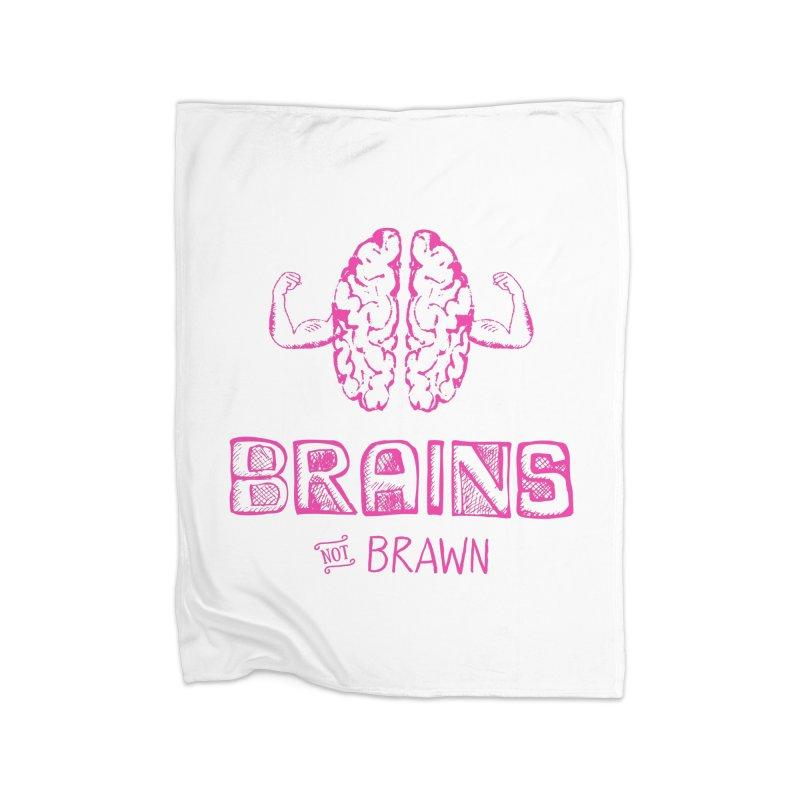 Brains not Brawn Home Blanket by Flourish & Flow's Artist Shop