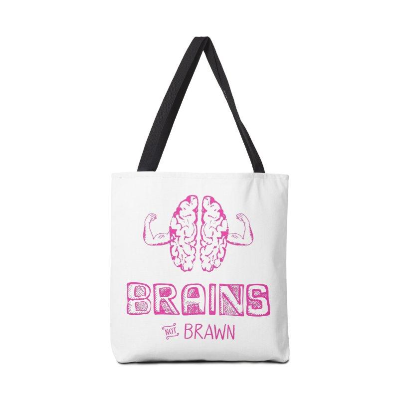 Brains not Brawn Accessories Bag by Flourish & Flow's Artist Shop