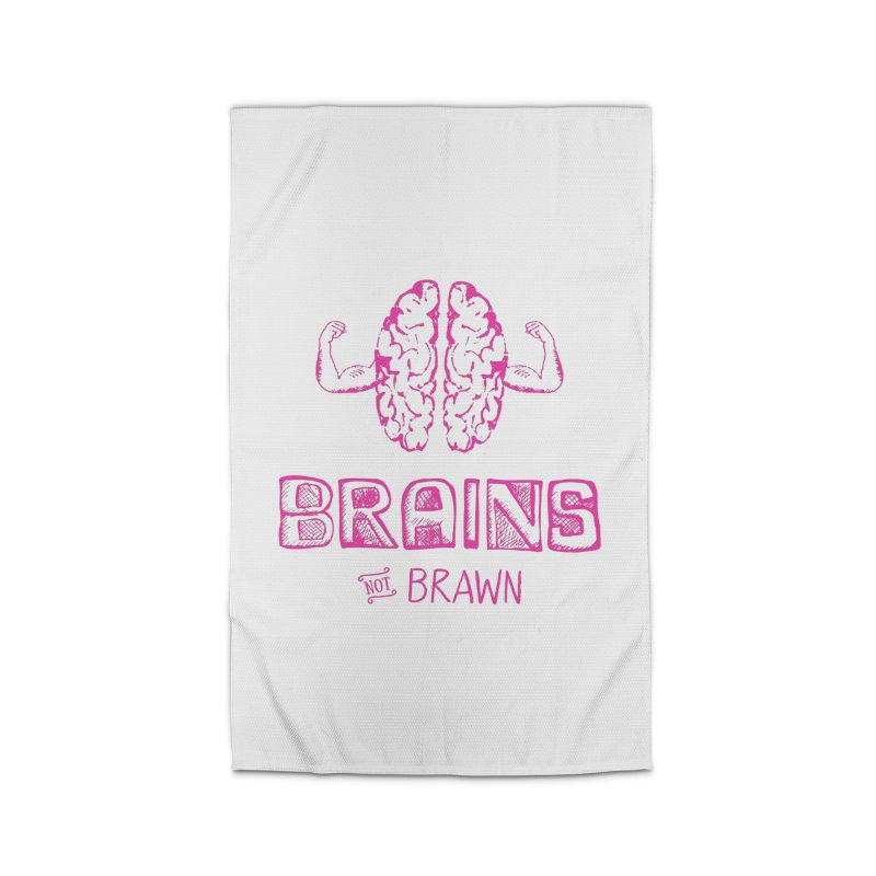 Brains not Brawn Home Rug by Flourish & Flow's Artist Shop