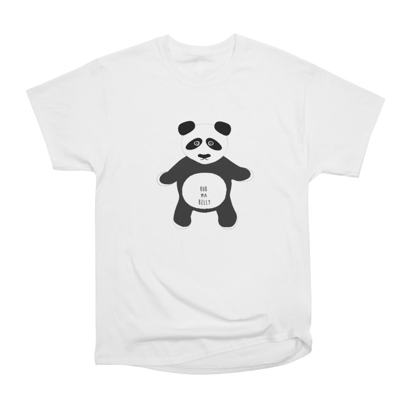 Lucky Panda Women's Heavyweight Unisex T-Shirt by Flourish & Flow's Artist Shop