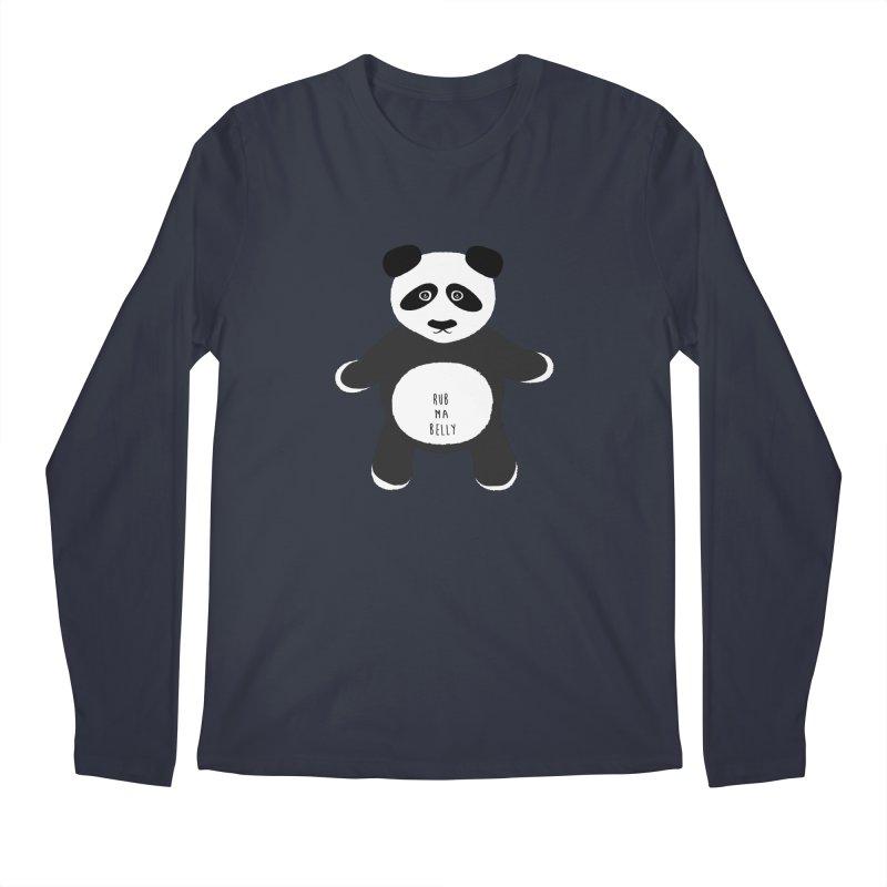 Lucky Panda Men's Longsleeve T-Shirt by Flourish & Flow's Artist Shop