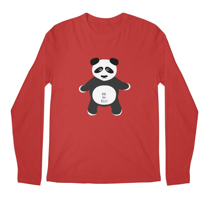 Lucky Panda Men's Longsleeve T-Shirt by Flourish & Flow's Artist Shop
