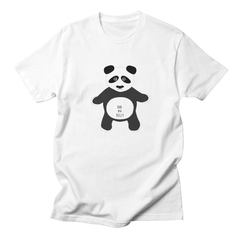 Lucky Panda Men's T-shirt by Flourish & Flow's Artist Shop