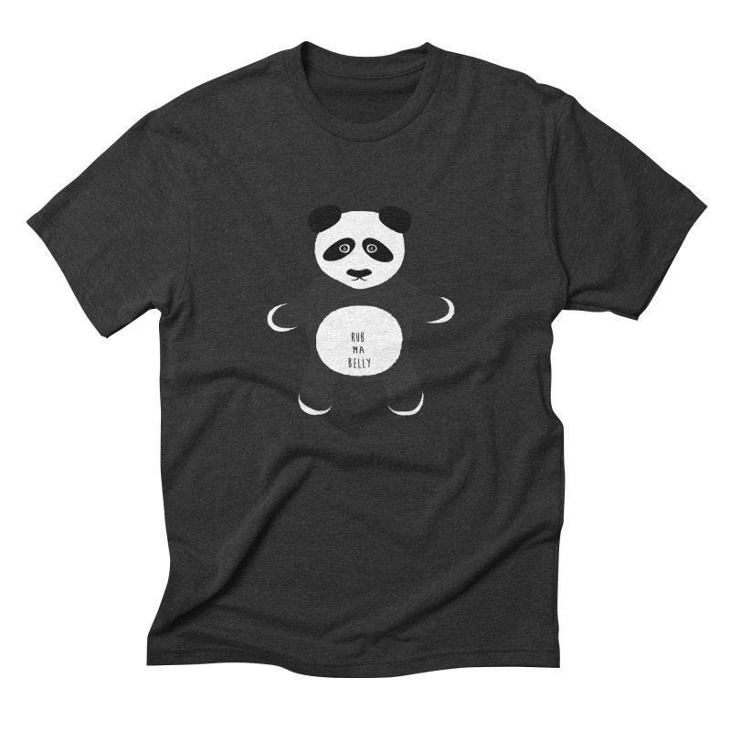 Lucky Panda Men's Triblend T-Shirt by Flourish & Flow's Artist Shop