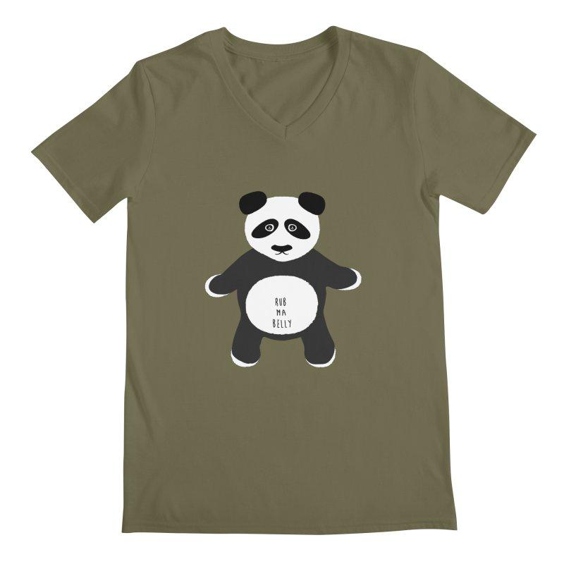 Lucky Panda Men's V-Neck by Flourish & Flow's Artist Shop