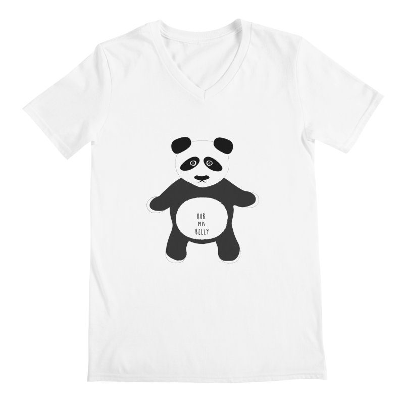 Lucky Panda Men's V-Neck by Flourish & Flow's Artist Shop