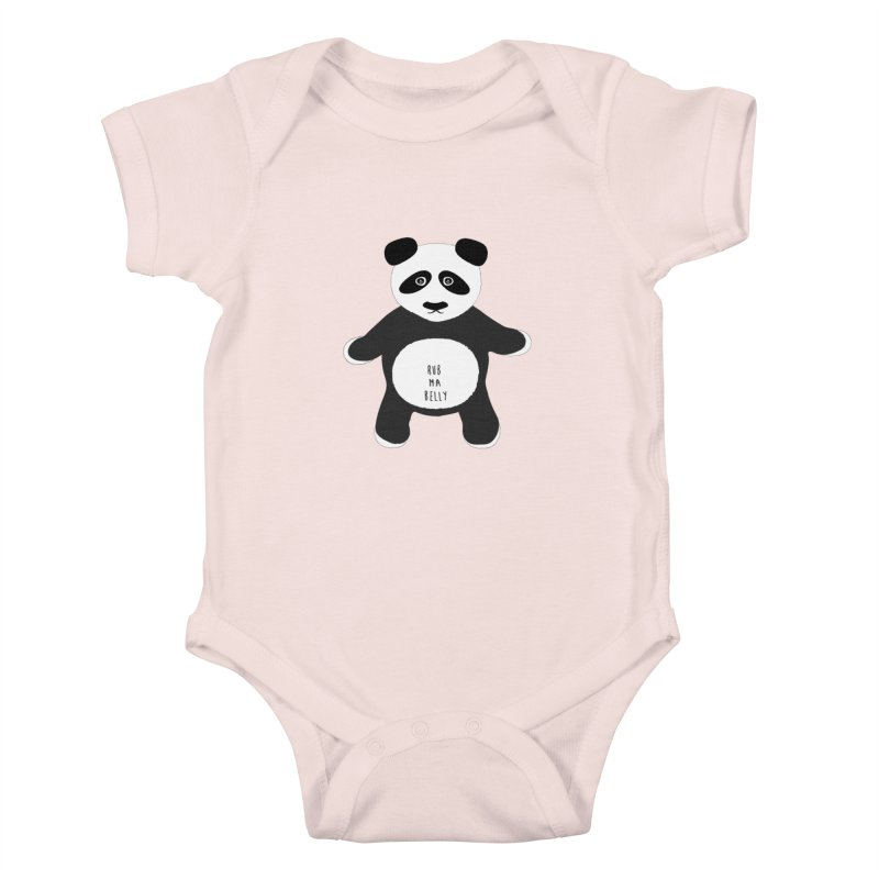 Lucky Panda Kids Baby Bodysuit by Flourish & Flow's Artist Shop