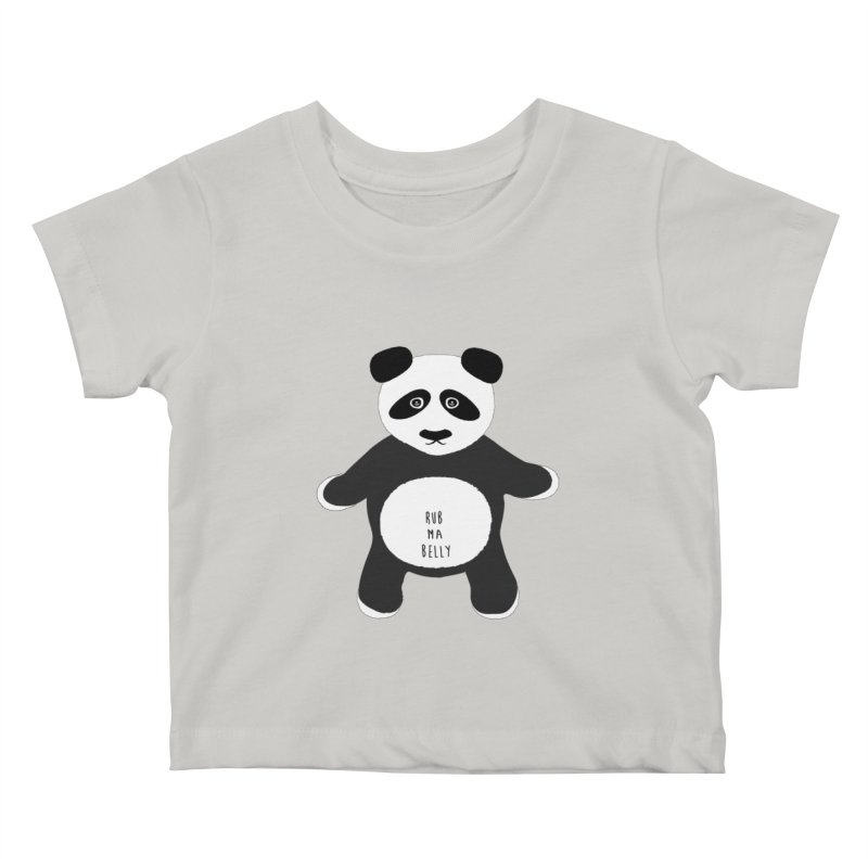 Lucky Panda Kids Baby T-Shirt by Flourish & Flow's Artist Shop