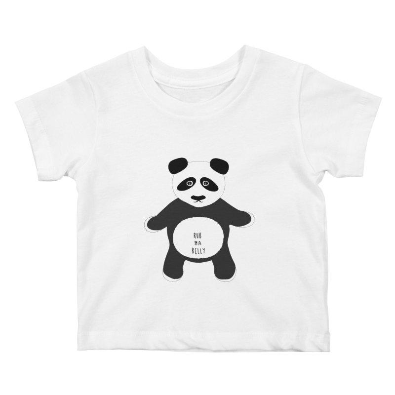 Lucky Panda Kids Baby T-Shirt by Flourish & Flow's Artist Shop