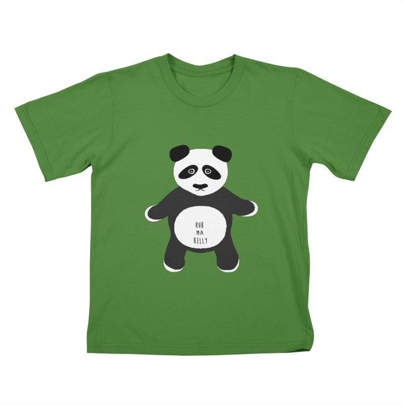 Lucky Panda Kids T-shirt by Flourish & Flow's Artist Shop