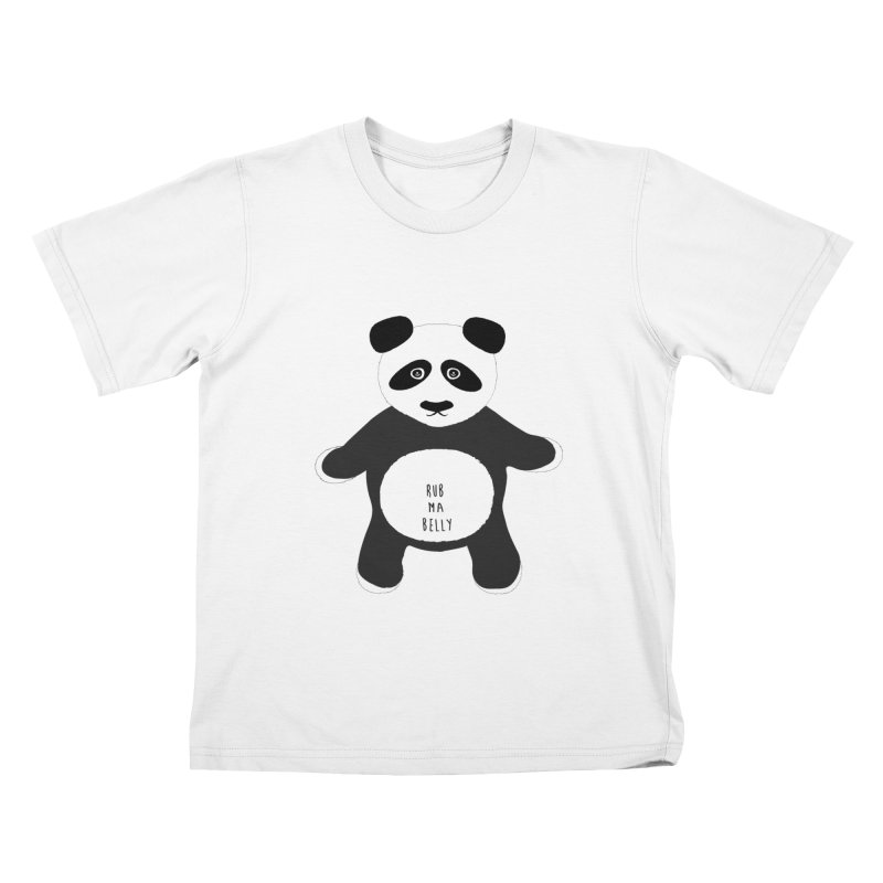 Lucky Panda Kids T-shirt by Flourish & Flow's Artist Shop