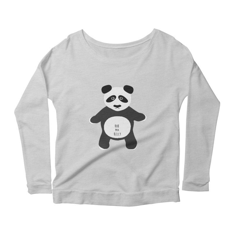 Lucky Panda Women's Scoop Neck Longsleeve T-Shirt by Flourish & Flow's Artist Shop