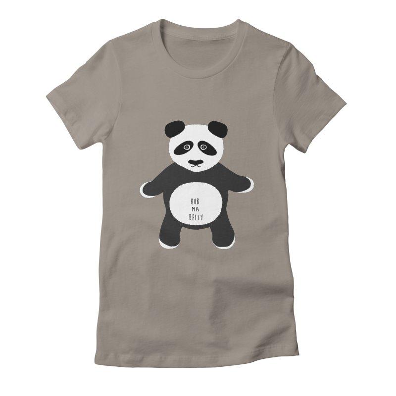 Lucky Panda Women's Fitted T-Shirt by Flourish & Flow's Artist Shop