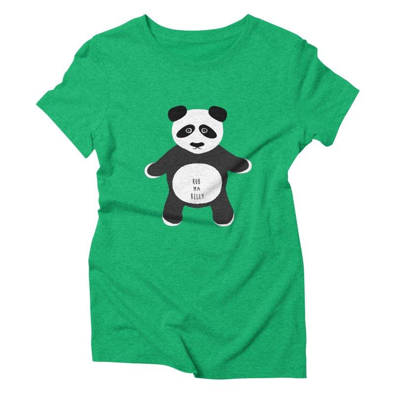 Lucky Panda Women's Triblend T-Shirt by Flourish & Flow's Artist Shop