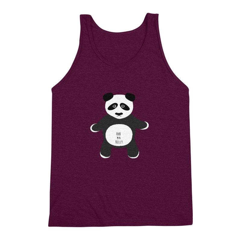 Lucky Panda Men's Triblend Tank by Flourish & Flow's Artist Shop