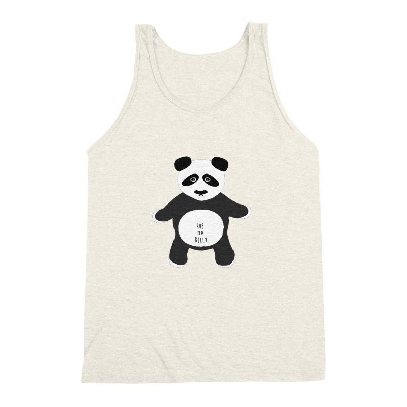 Lucky Panda Men's Triblend Tank by Flourish & Flow's Artist Shop