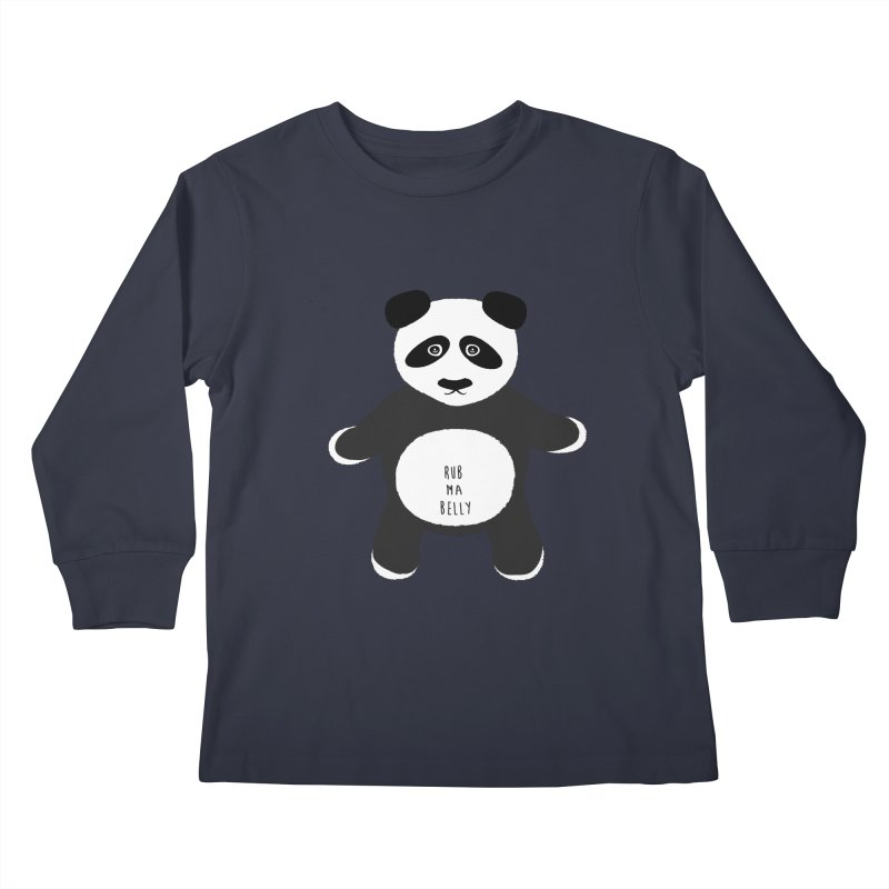 Lucky Panda Kids Longsleeve T-Shirt by Flourish & Flow's Artist Shop