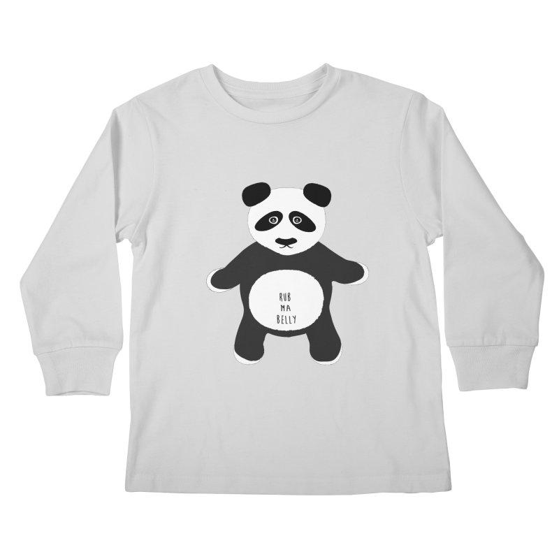 Lucky Panda Kids Longsleeve T-Shirt by Flourish & Flow's Artist Shop