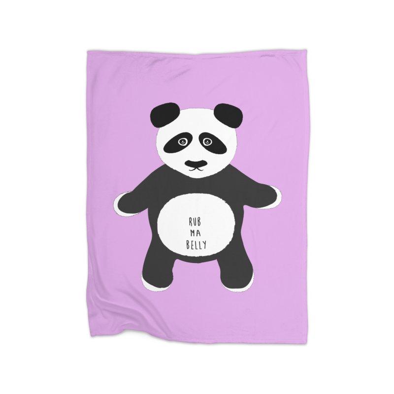 Lucky Panda Home Blanket by Flourish & Flow's Artist Shop