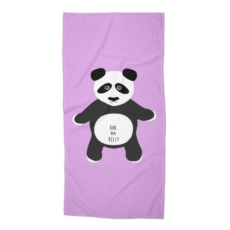 Lucky Panda Accessories Beach Towel by Flourish & Flow's Artist Shop