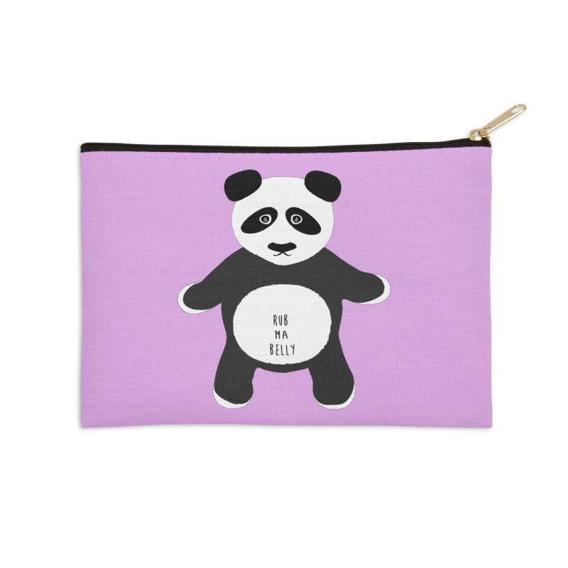 Lucky Panda Accessories Zip Pouch by Flourish & Flow's Artist Shop