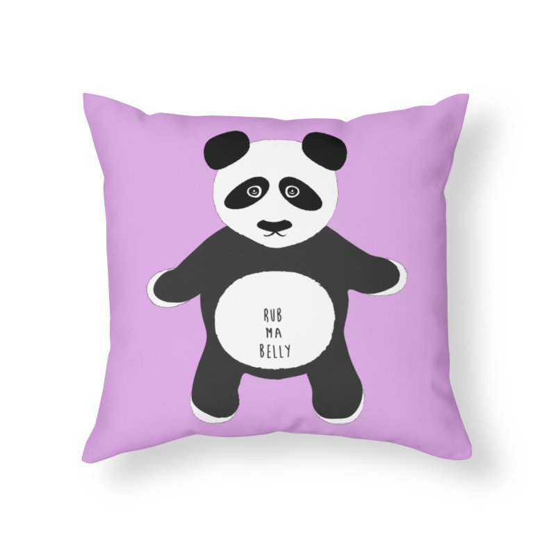 Lucky Panda Home Throw Pillow by Flourish & Flow's Artist Shop